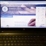 Sitio web de Discapacidad presentado desde una computadora