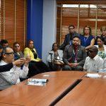 personal interinstitucional presente durante la reunión